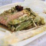 Zalm hoofdgerecht whit diner foodblog Foodinista