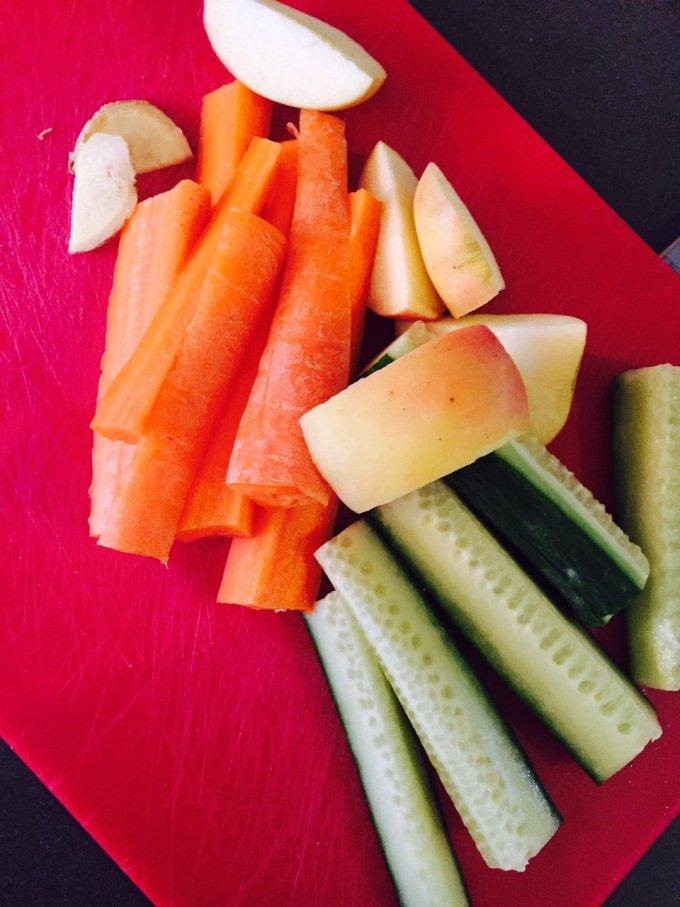 Groente en fruit pittig wortelsapje recept superjuicer getest foodblog Foodinista