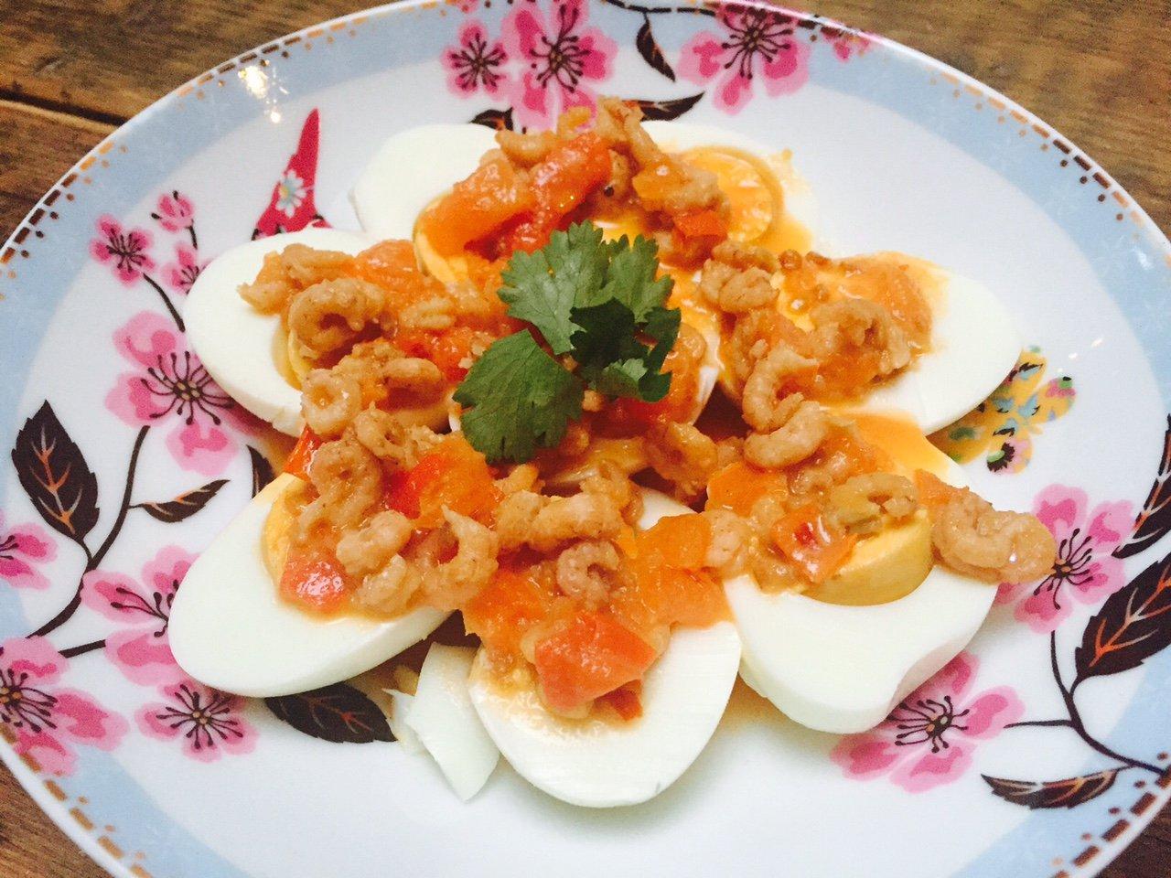 Recept voor Balinese eitjes met garnalen receptblog Foodinista