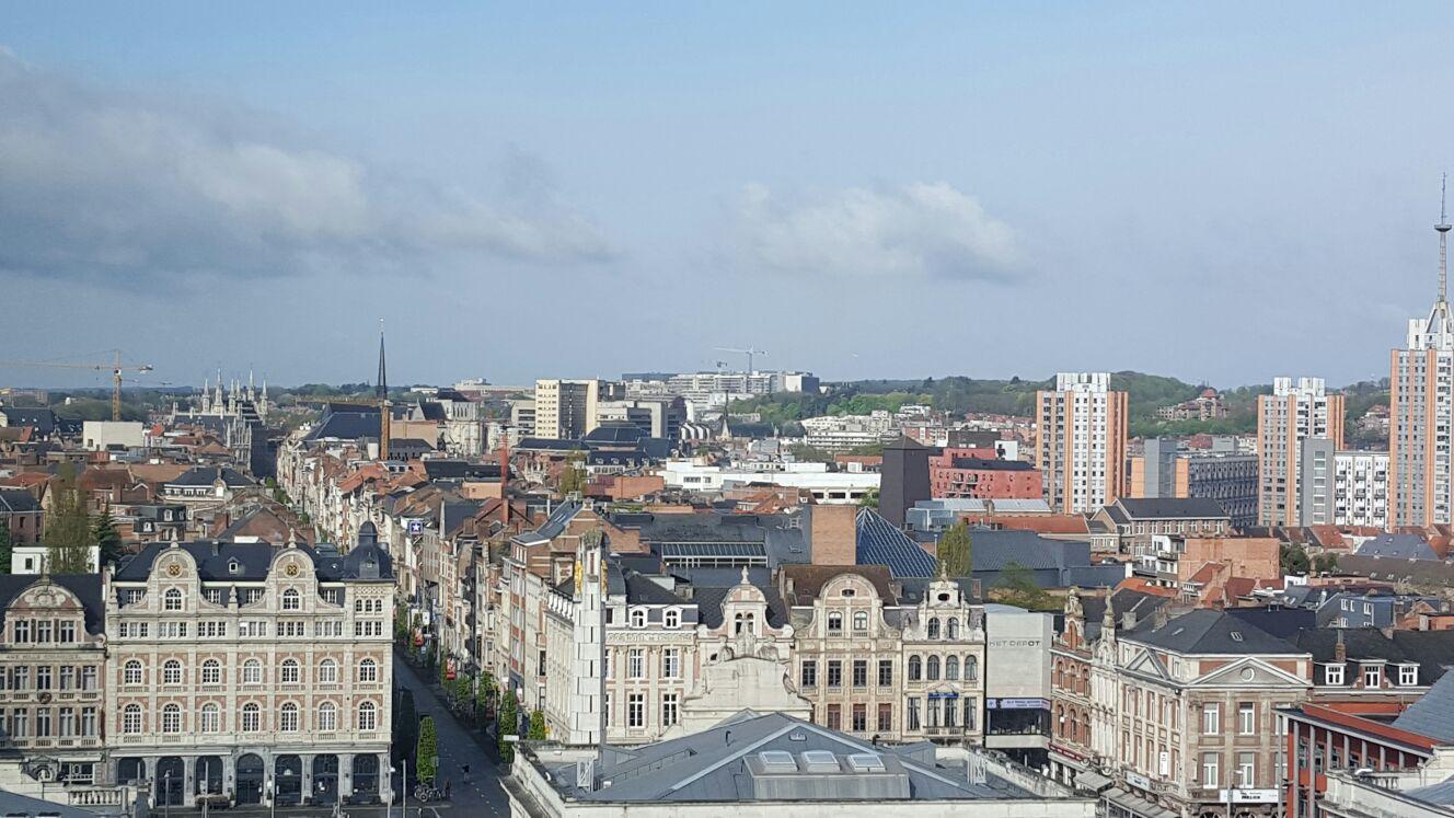 Overnachten in Leuven bij Park Inn by Radisson SAS uitzicht vanuit de kamer