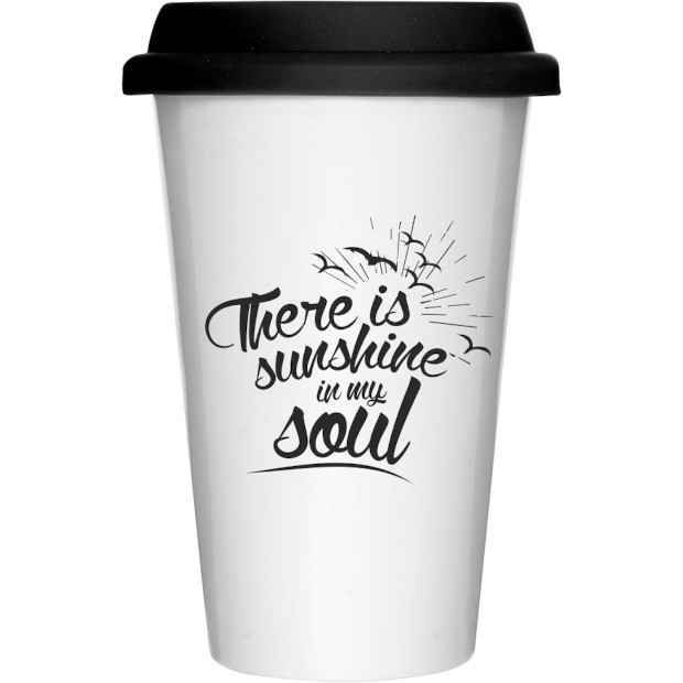 Koffie on the go beker Sunshine in my soul Sinterklaascadeautjes onder 15 Euro foodblog Foodinista