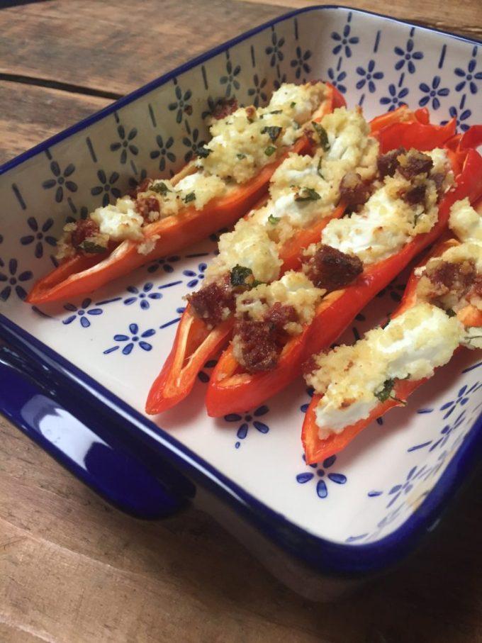 Gevulde paprika met chorizo en geitenkaas recept van foodblog Foodinista