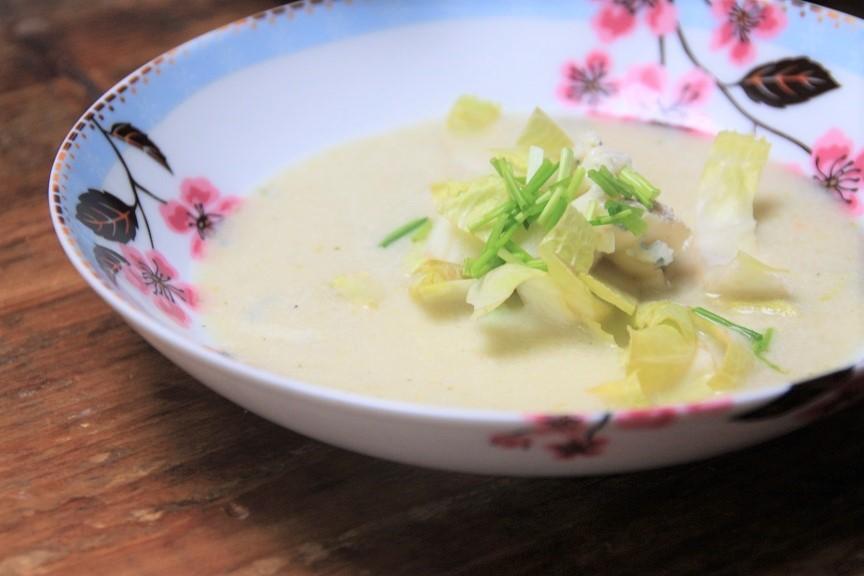Witlofsoep met gorgonzola recept van receptblog Foodinista