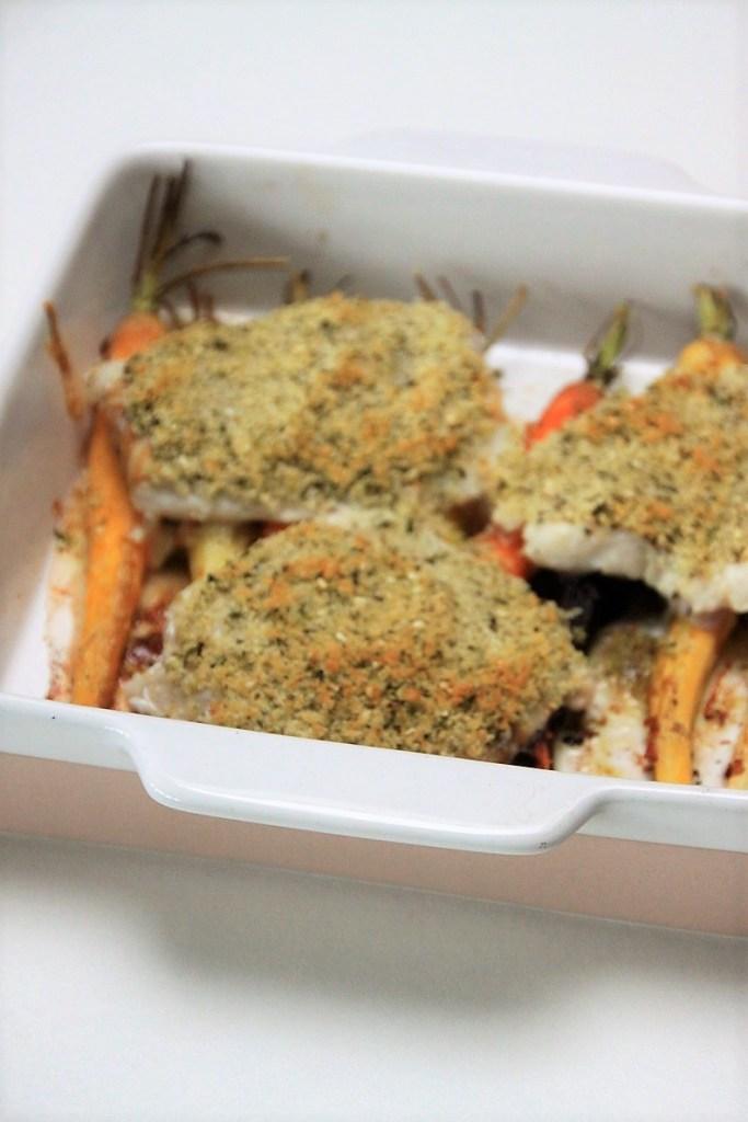Kabeljauw ovenschotel met gegrilde worteltjes foodblog Foodinista
