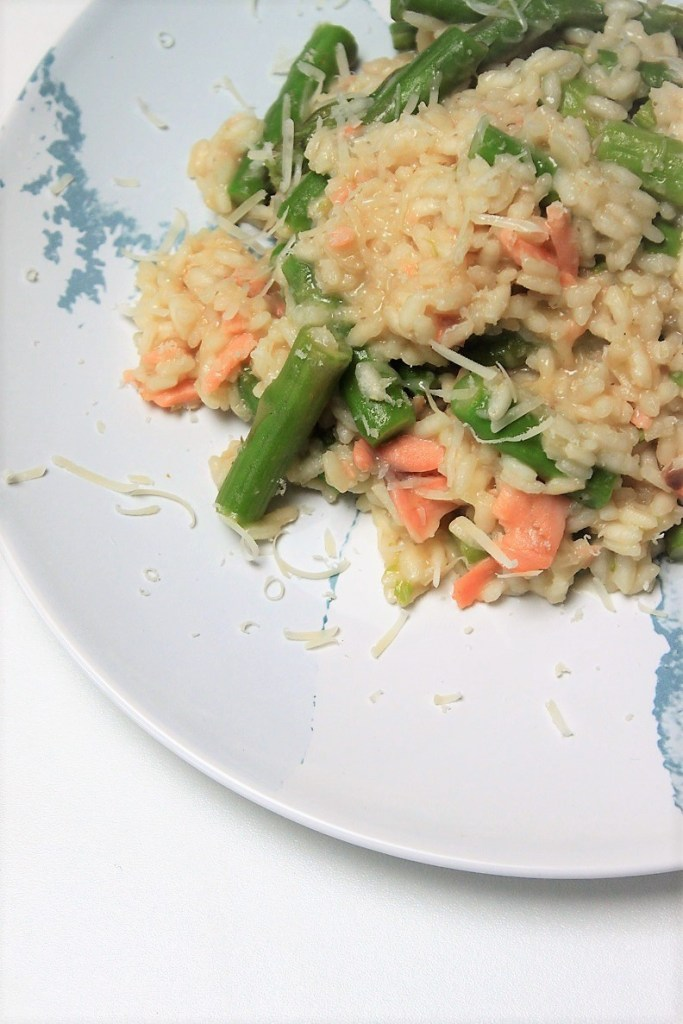 Risotto recept groene asperges en zalm foodblog Foodinista