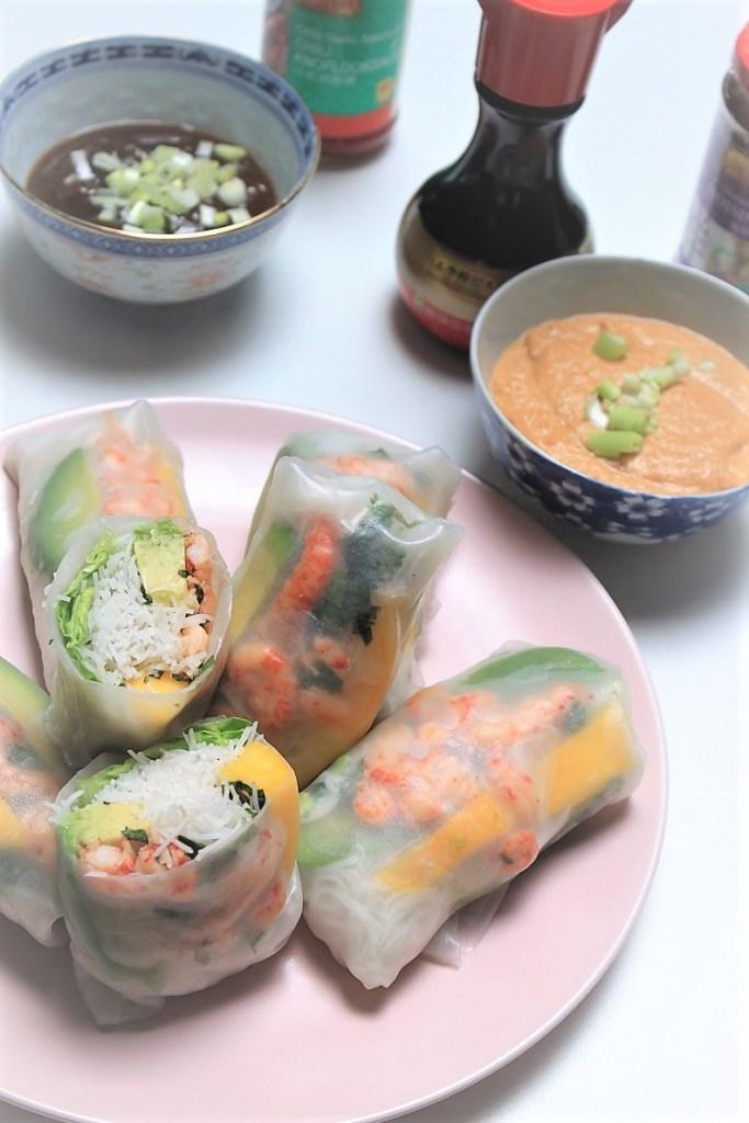 Springrolls recept met dipsausjes van Foodblog Foodinista