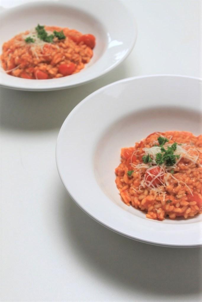 Tomatenrisotto recept Foodblog Foodinista