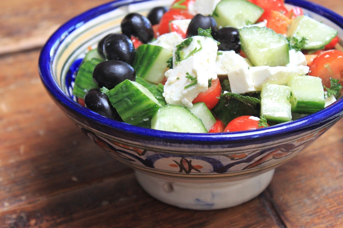 Griekse salade met feta recept van Foodblog Foodinista