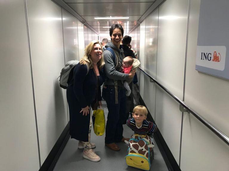 Het vliegtuig in naar Turkije