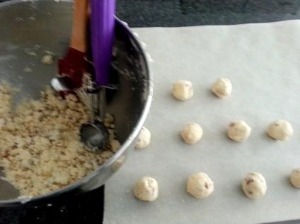 Pecan Sandies - Dough, Purple Scoop, Balls