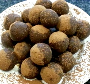 Chocolate and Goat Cheese Truffles