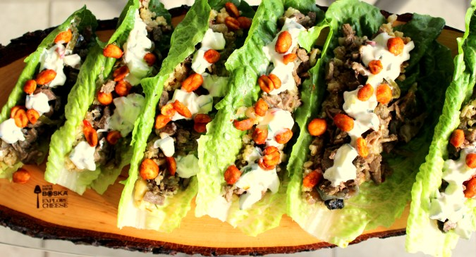 Beef and Mushroom Lettuce Wraps with