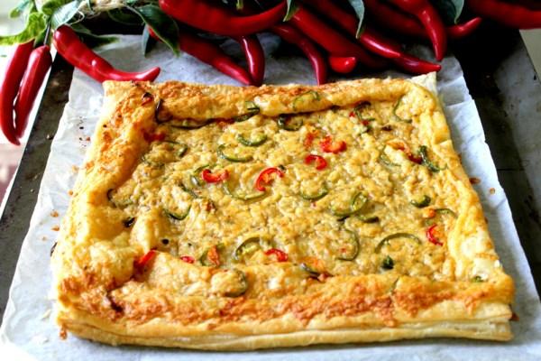 Puff Pastry Chili Cheese Pizza2
