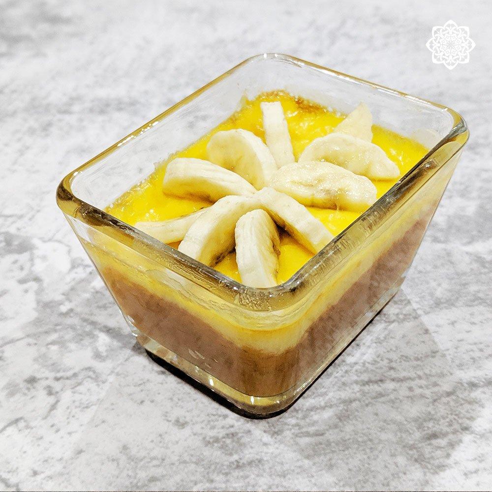 Egyptian/Middle Eastern Dessert (Pumpkin Pie قرع عسلي) with Banana Topping