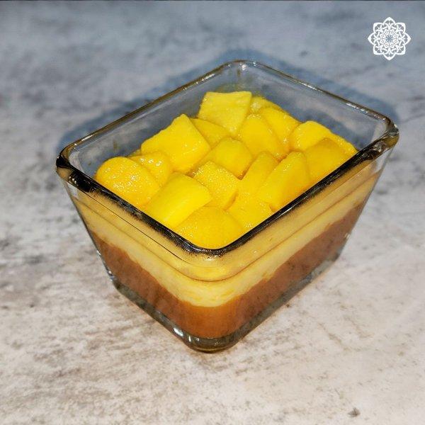 Egyptian/Middle Eastern Dessert (Pumpkin Pie قرع عسلي) with Mango Topping