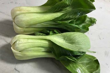 Bundle of fresh Bok Choy