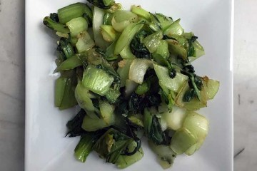 baby bok choy garlic dish recipe