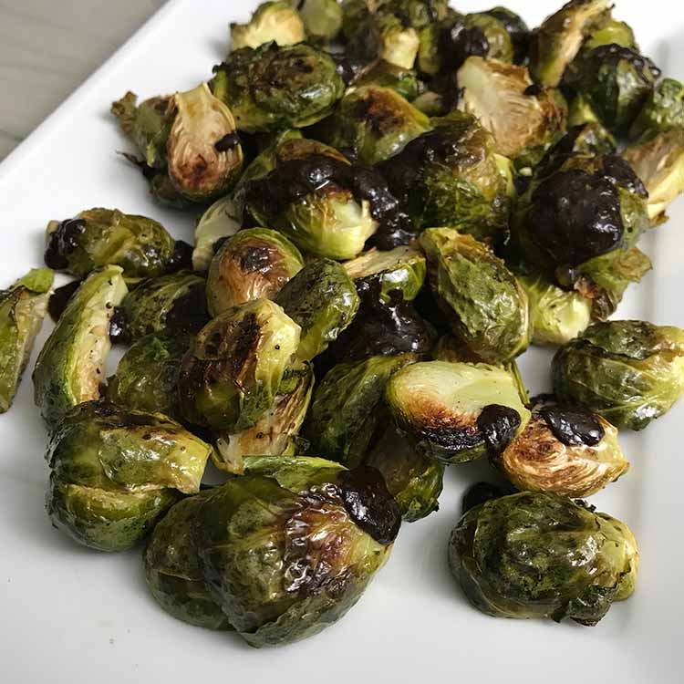 brussels sprouts roasted closeup