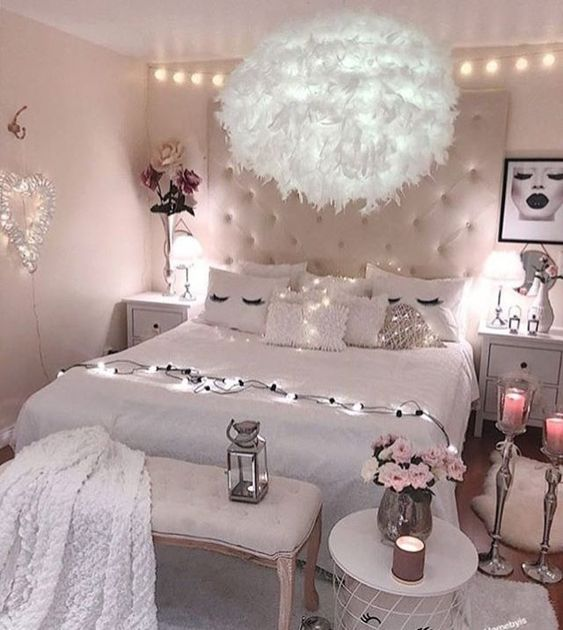 54 Awesome Decoration Ideas to Make Your Bedroom Cozy and ... on Cozy Teenage Room Decor  id=44386