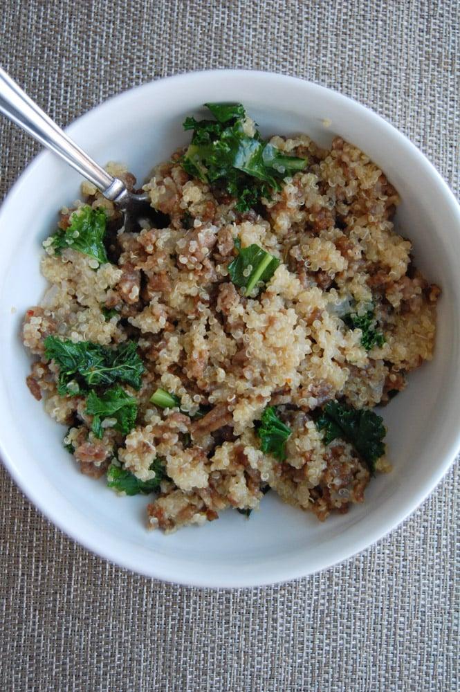 quinoa sausage