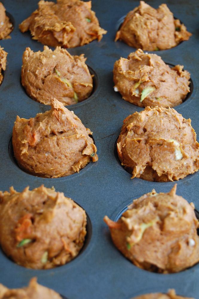Pumpkin Carrot Zuch Muffin