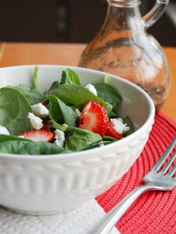 strawberry spinach salad