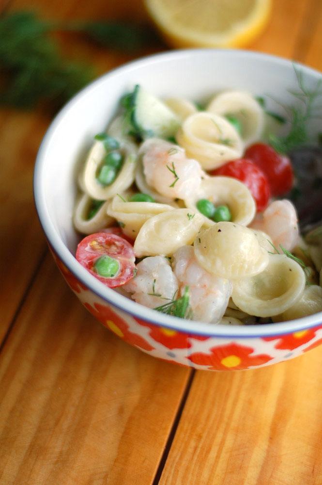 orecchiette and shrimp