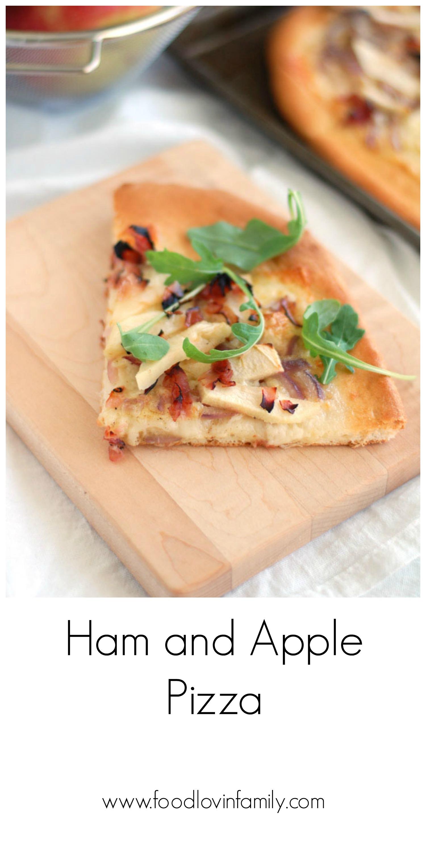 ham and apple pizza