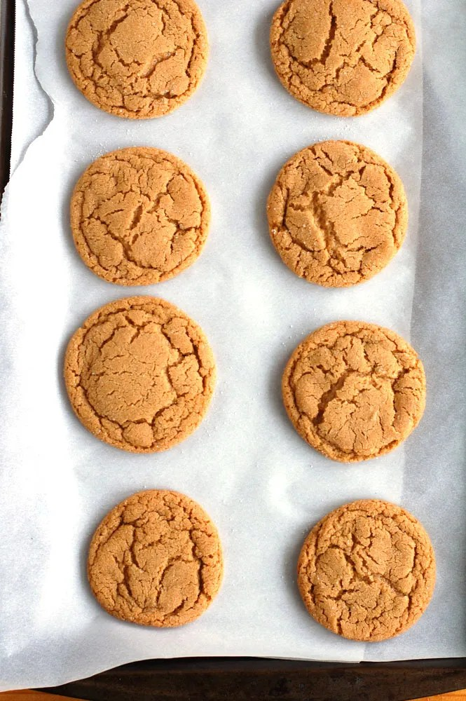 Baked Molasses Cookies