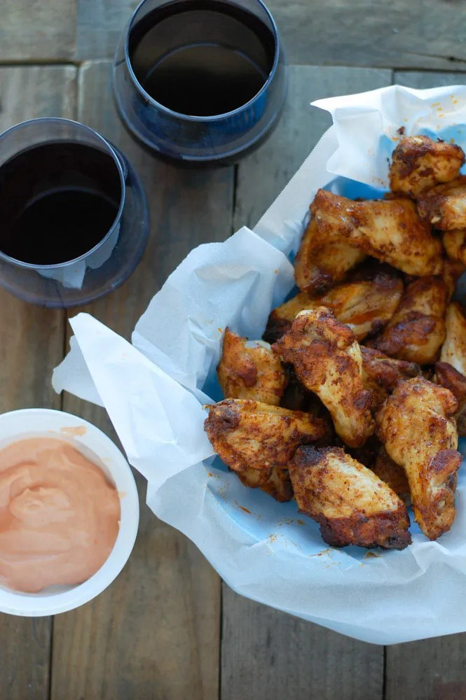 Baked Brown Sugar Chicken Wings and sauce