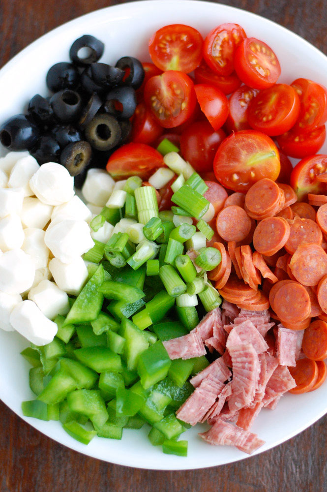 Easy Italian Pasta Salad with pepperoni is quick and easy to make but always a big hit! A sure crowd favorite!