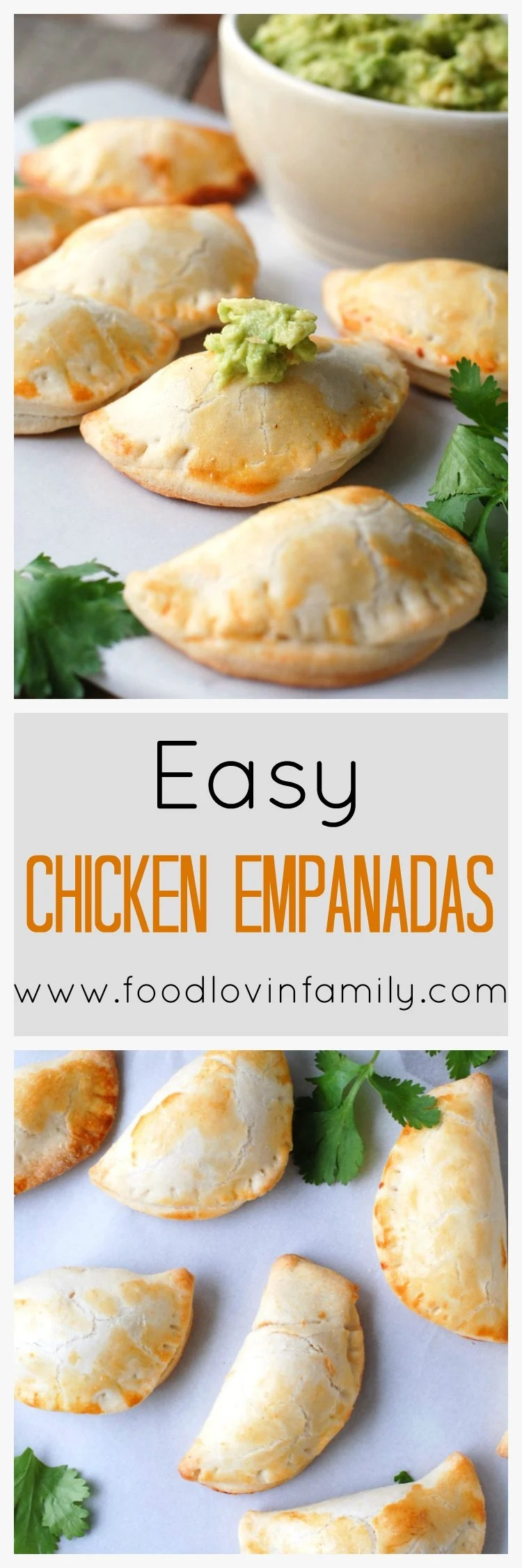Easy Chicken Empanadas are a little cheesy, spicy, and delicious, making them the perfect party food.
