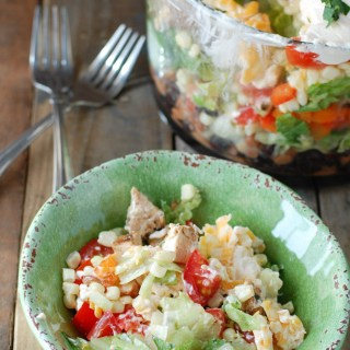 Chicken Fajita Layered Salad