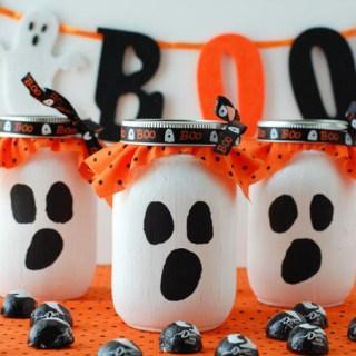 Mason Jar Ghost Candy Gift