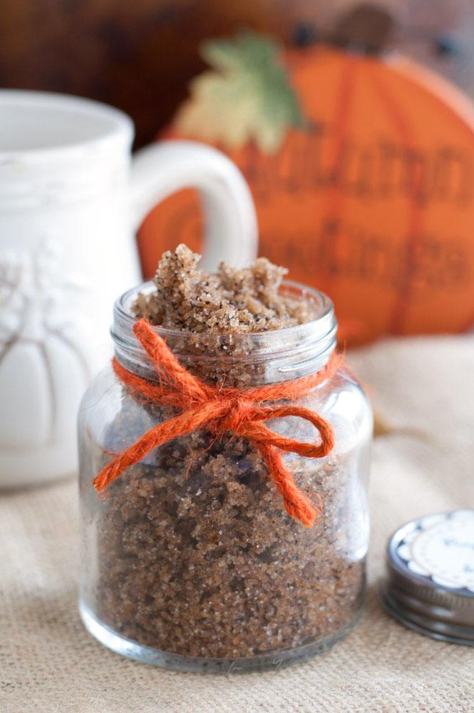 pumpkin spice latte sugar scrub.
