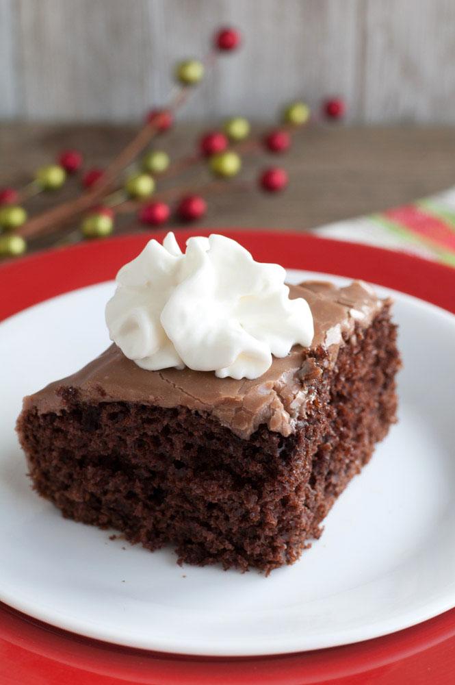 Hot Chocolate Poke Cake