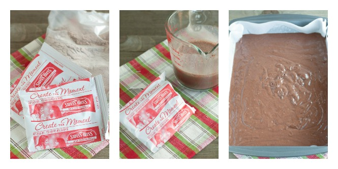 Steps to making hot chocolate cake