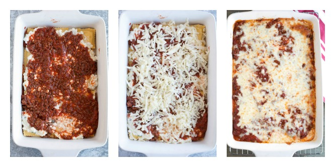 Steps to make ravioli lasagna