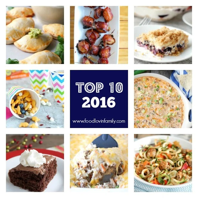 Before the year ends I thought it would be fun to share the Top 10 Recipes 2016.