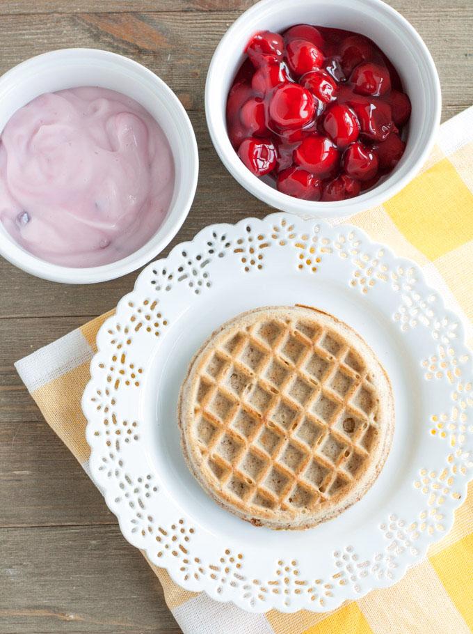 Cherry Yogurt Waffles Topping