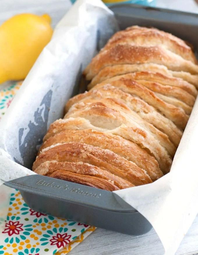 easy lemon pull-apart bread unglazed