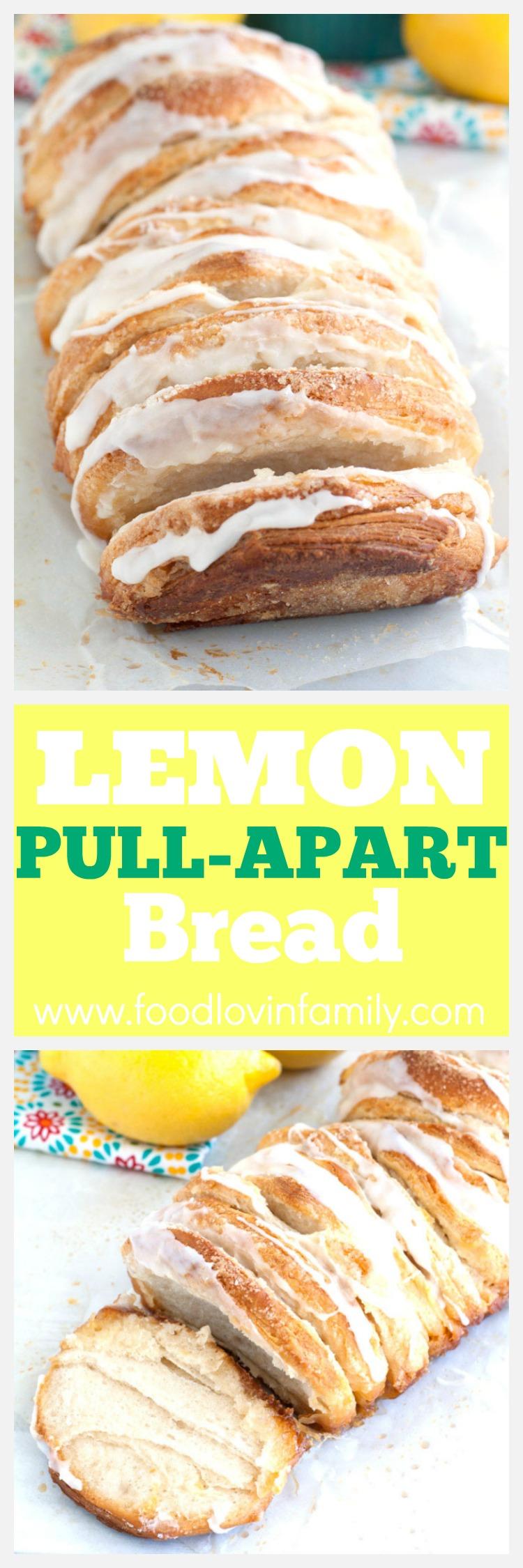 easy lemon pull-apart bread PIN