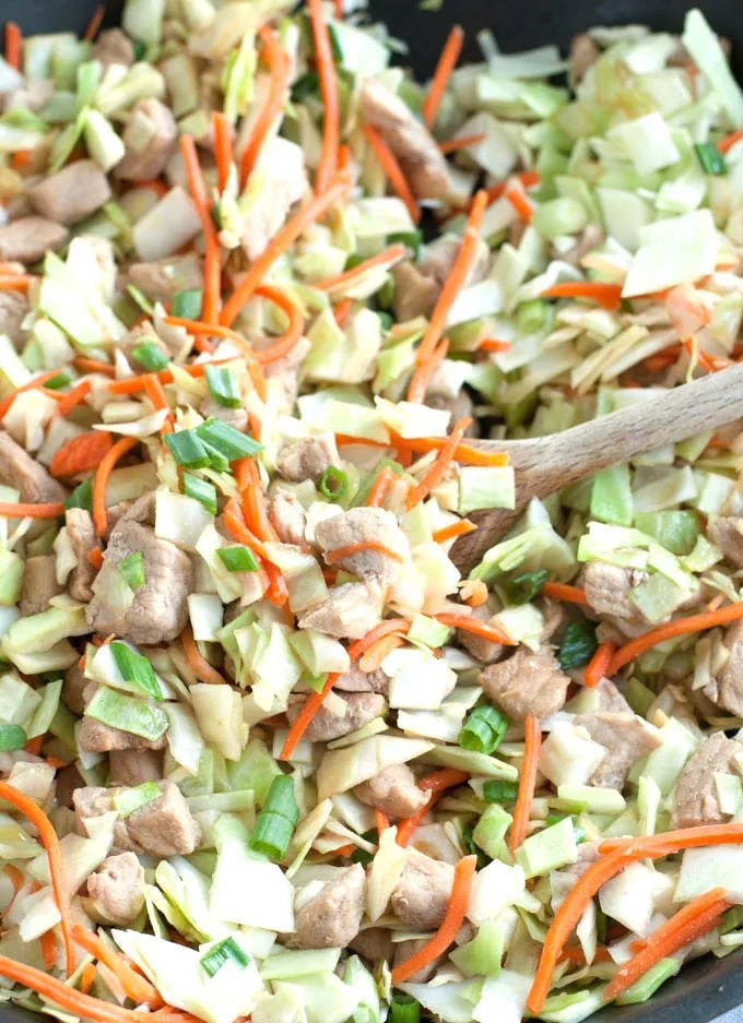 Pork Egg roll In A Bowl is a delicious twist on the classic egg roll.