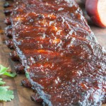 Ribs on cutting board.