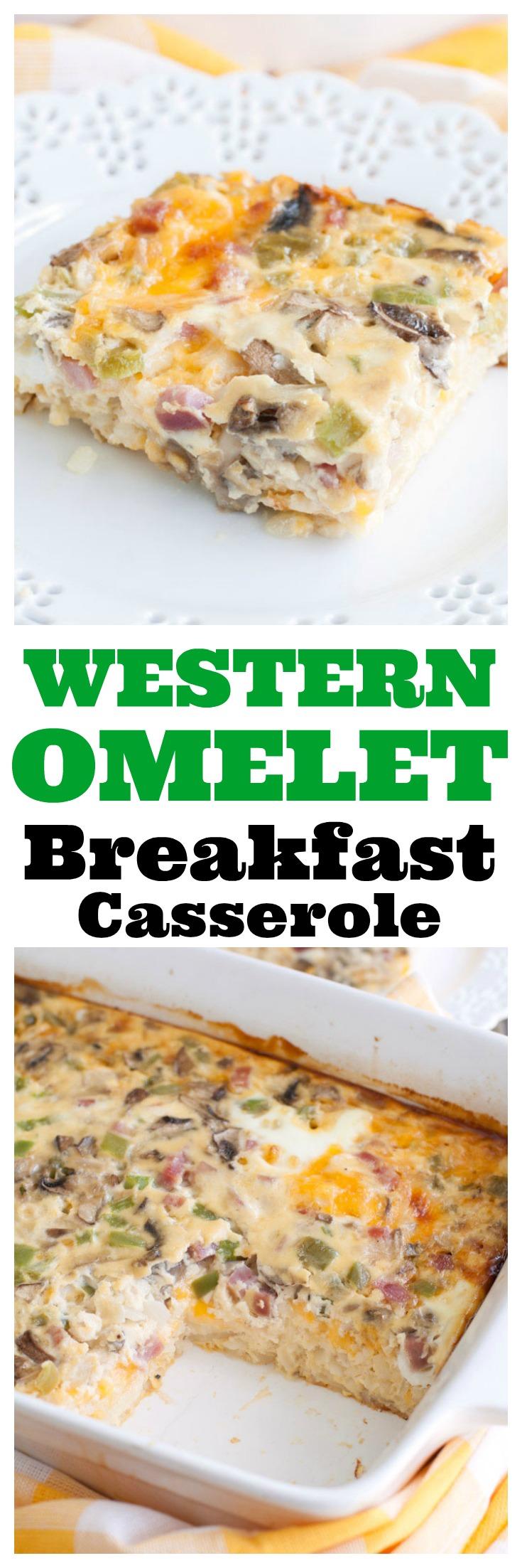 Western Omelet Breakfast Casserole PIN