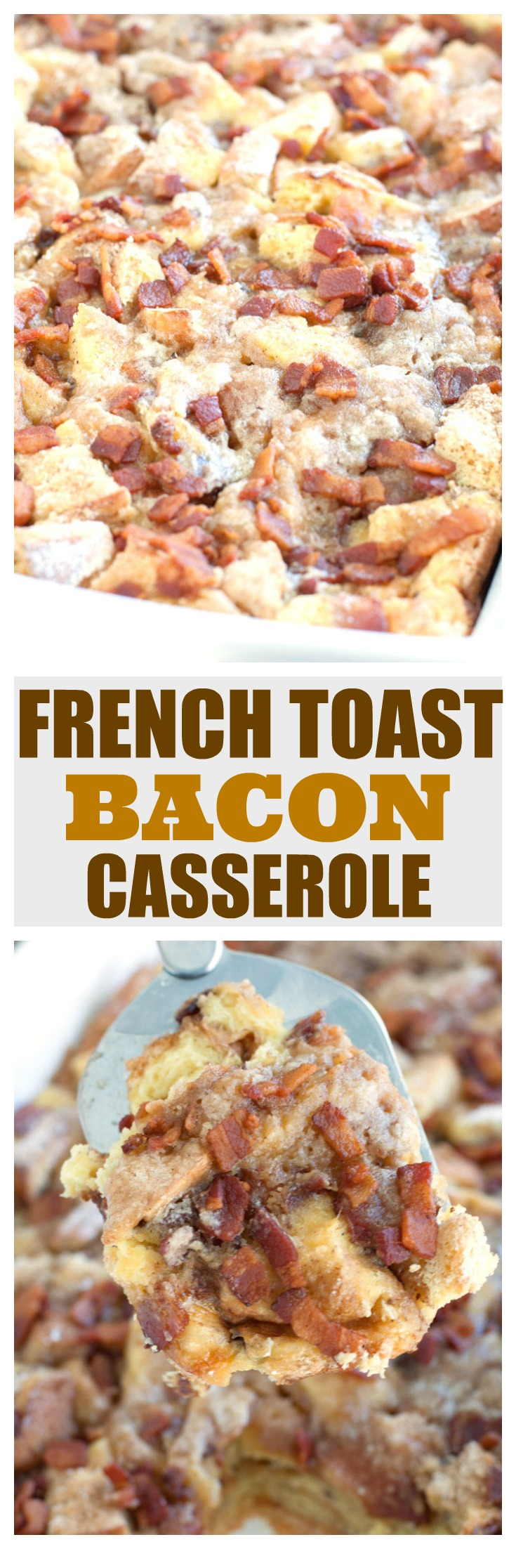 french toast bacon casserole pin