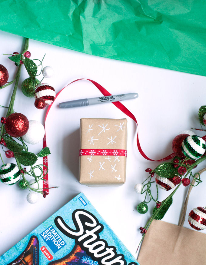gift wrapping sharpie