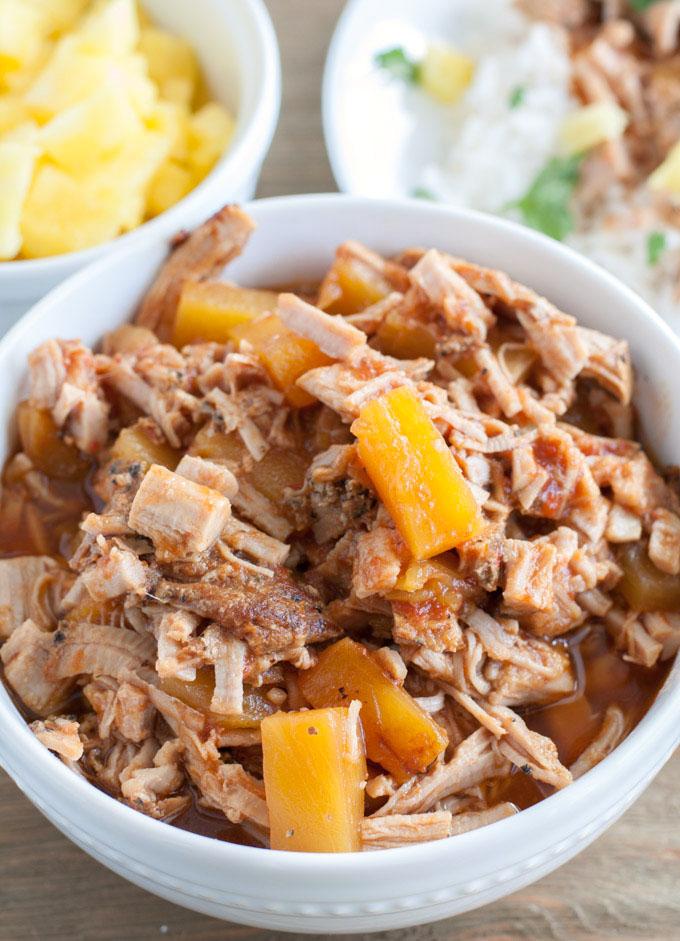 slow cooker pineapple pork