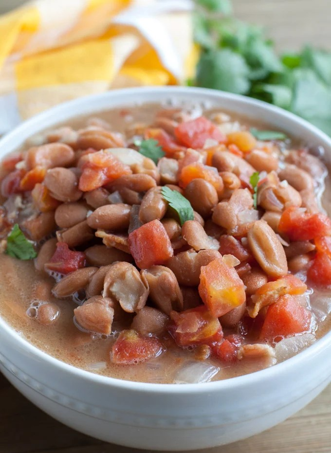 Charro Beans in a bowl