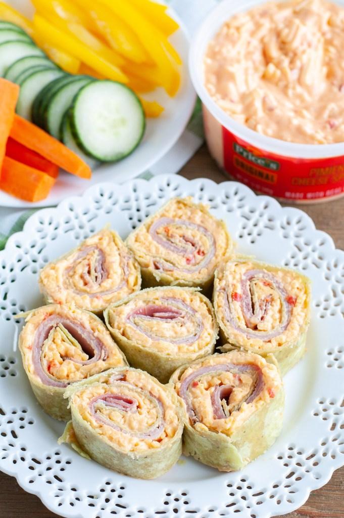 pimiento cheese ham pinwheel